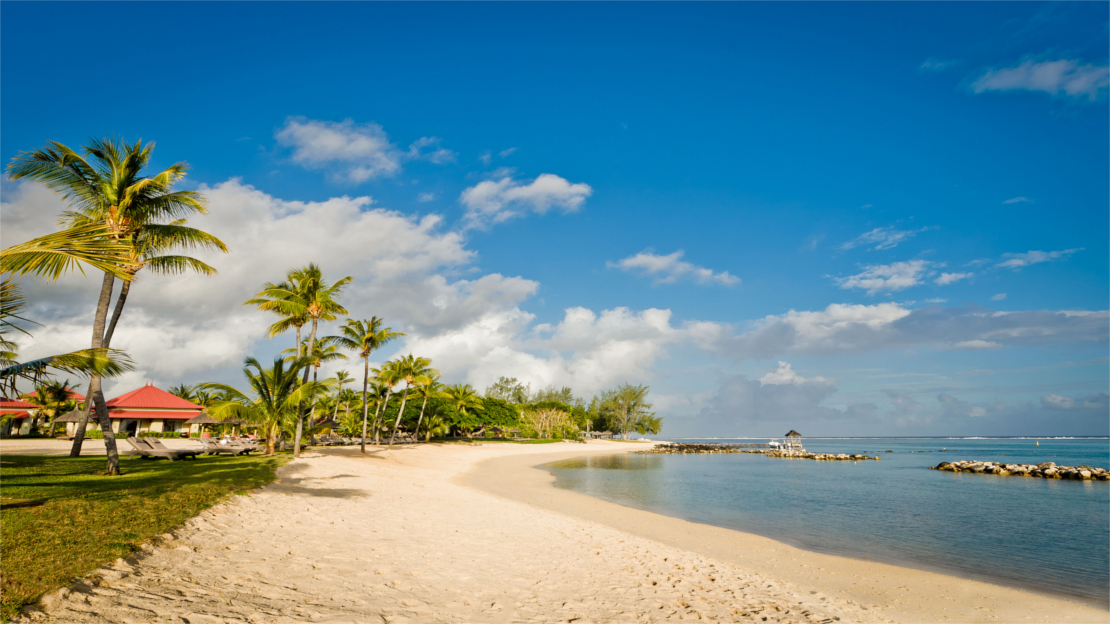 Beach at Tamassa Resort, Mauritius