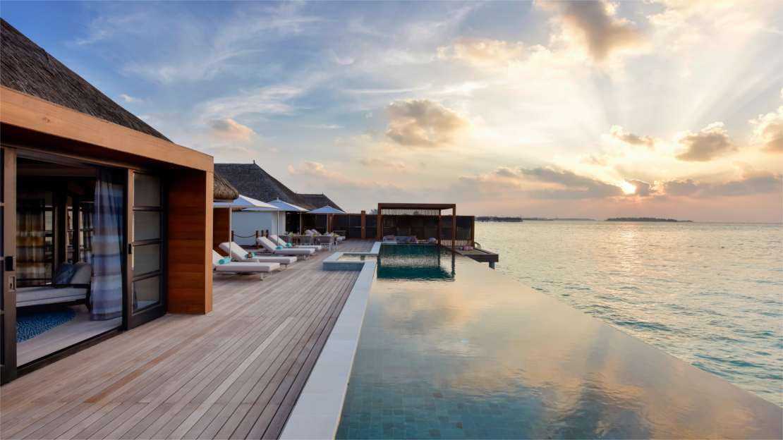 Sunrise or Sunset Three-Bedroom Water Villa