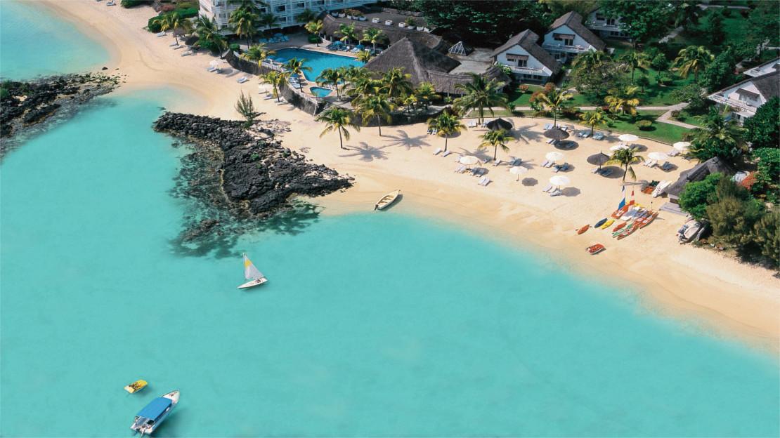 Aerial view of Merville Beach Resort