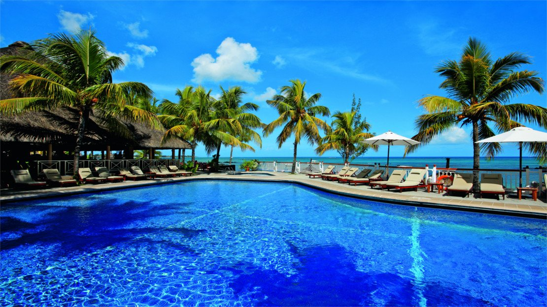 1/11  Pool at Merville Beach Resort, Mauritius