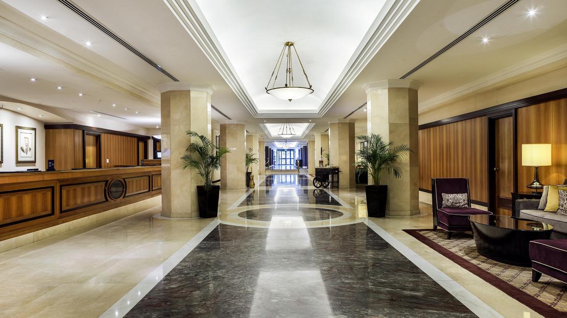 Lobby at Hilton Corniche