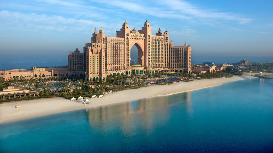 1/18  Atlantis - The Palm Hotel Exterior