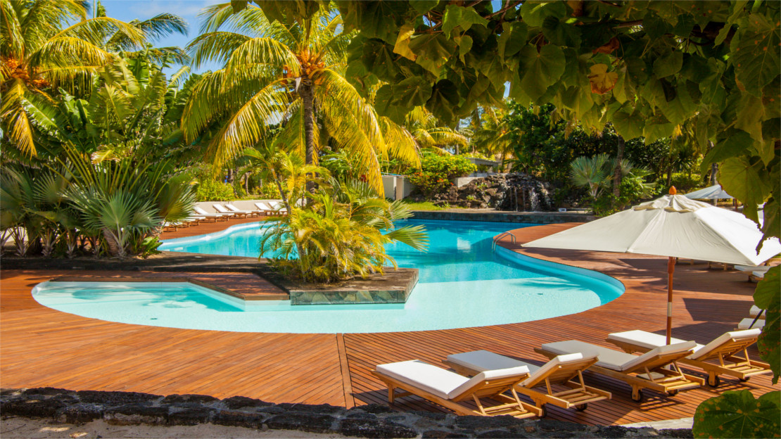 Pool at Solana Beach Resort, Mauritius