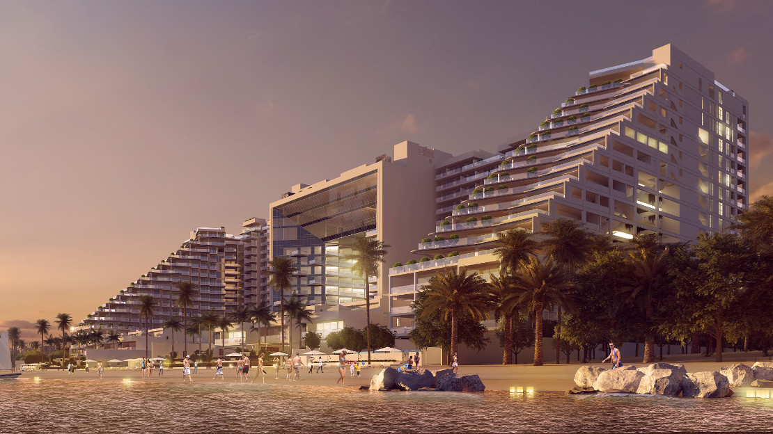 FIVE Palm Jumeirah Dubai - View From Beach